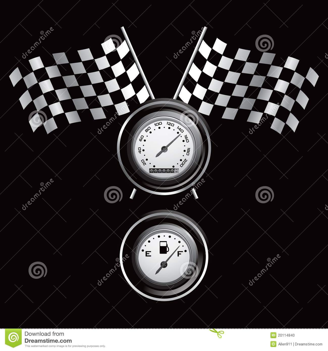 Racing Flags And Gauges