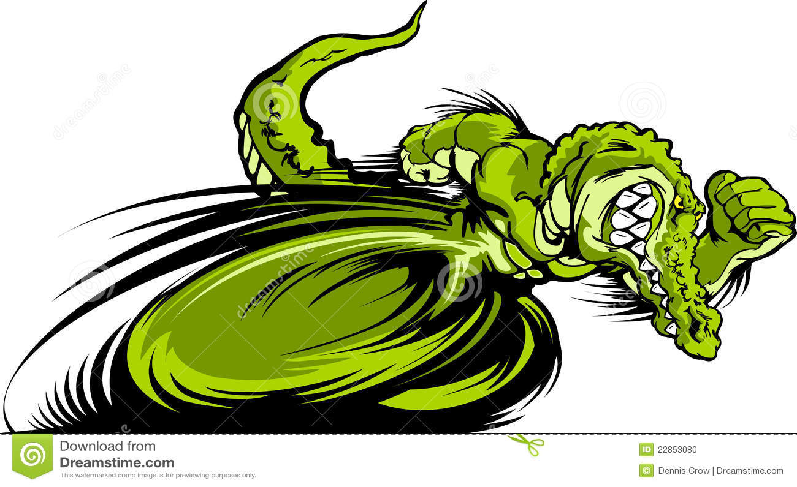 Crocodile Logo Racing gator or croc mascot