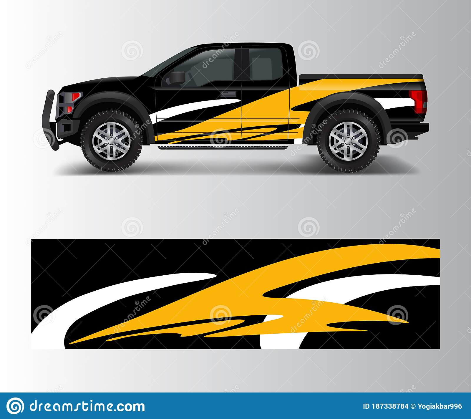 Racing Graphic Background Vector For Truck Pickup And Vehicle Branding Vinyl And Wrap Design Vector Stock Vector Illustration Of Automotive Sport 187338784