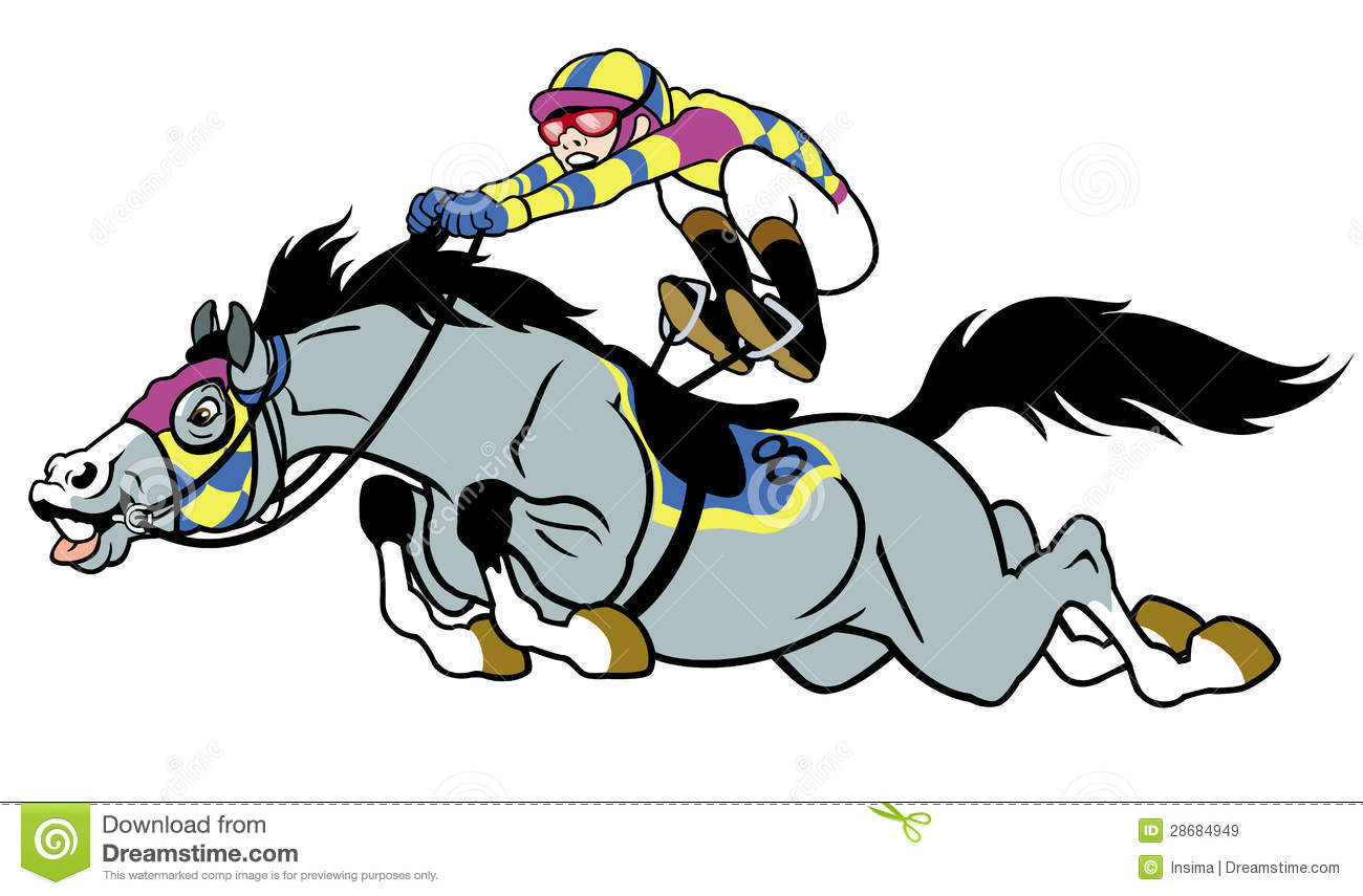 Download Racing Horse With Jockey Stock Vector Illustration Of Purebred