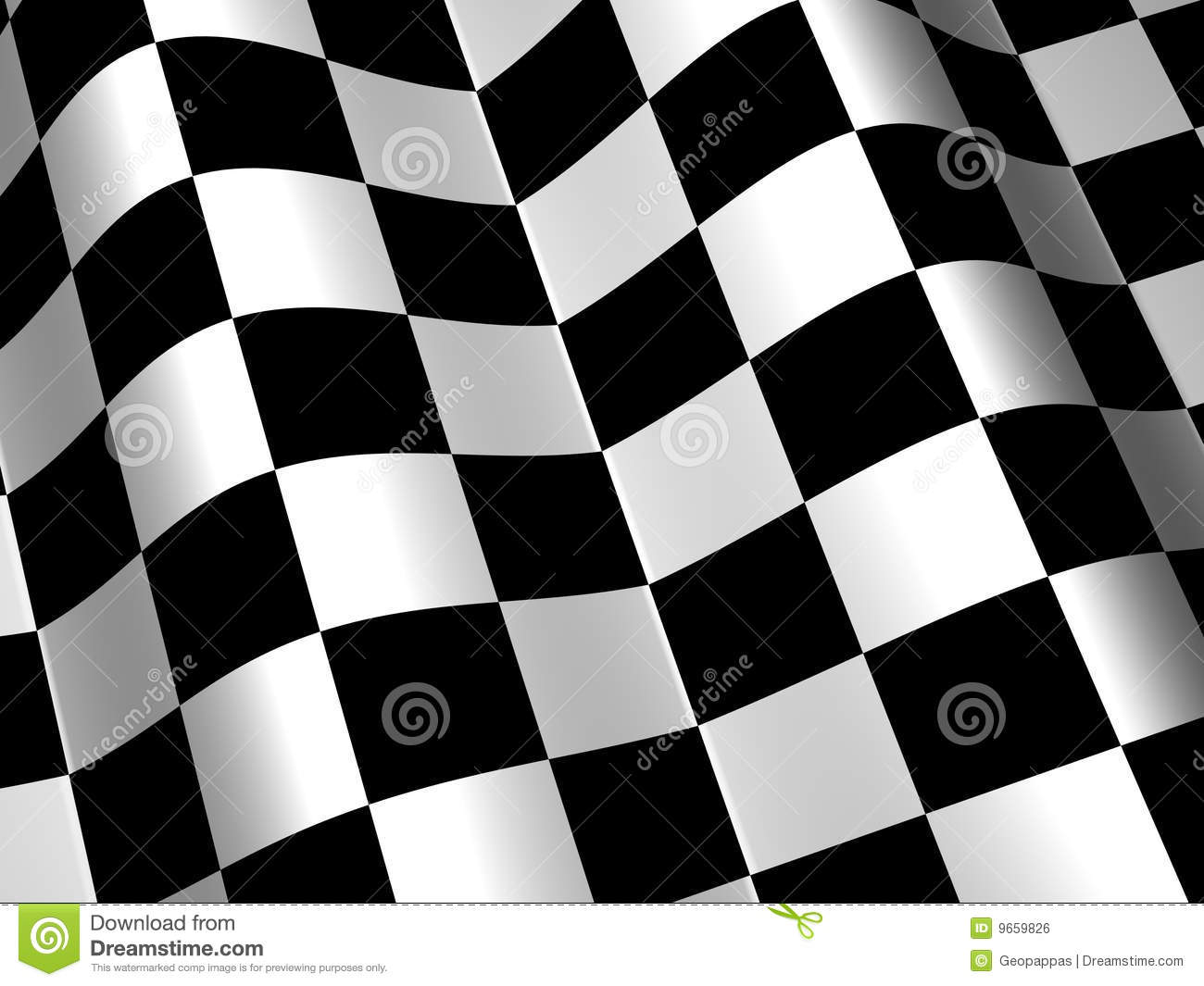 Racing Race Checkered Flag Background
