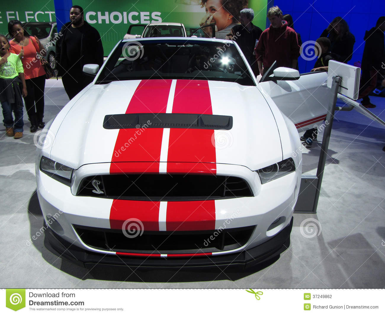 Racing Stripe Ford Mustang Editorial Photography Image Of District