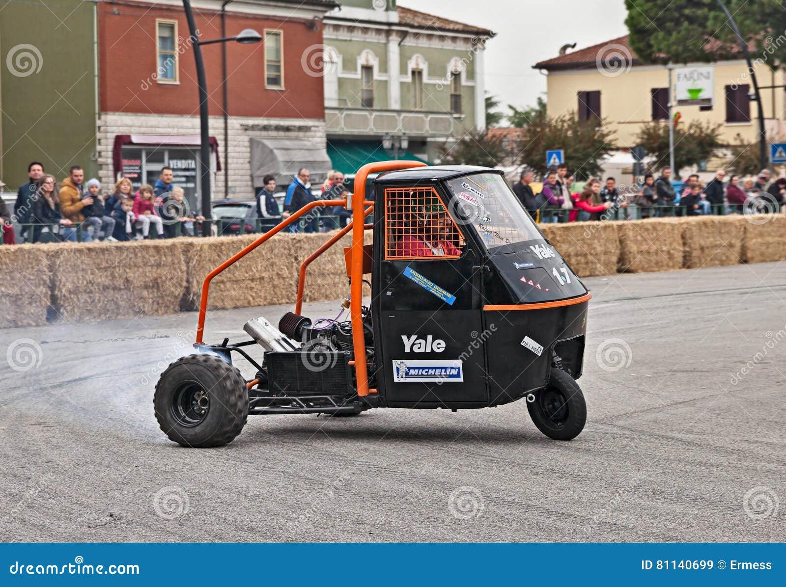 Racing Vehicle Ape Piaggio Editorial Stock Image Image