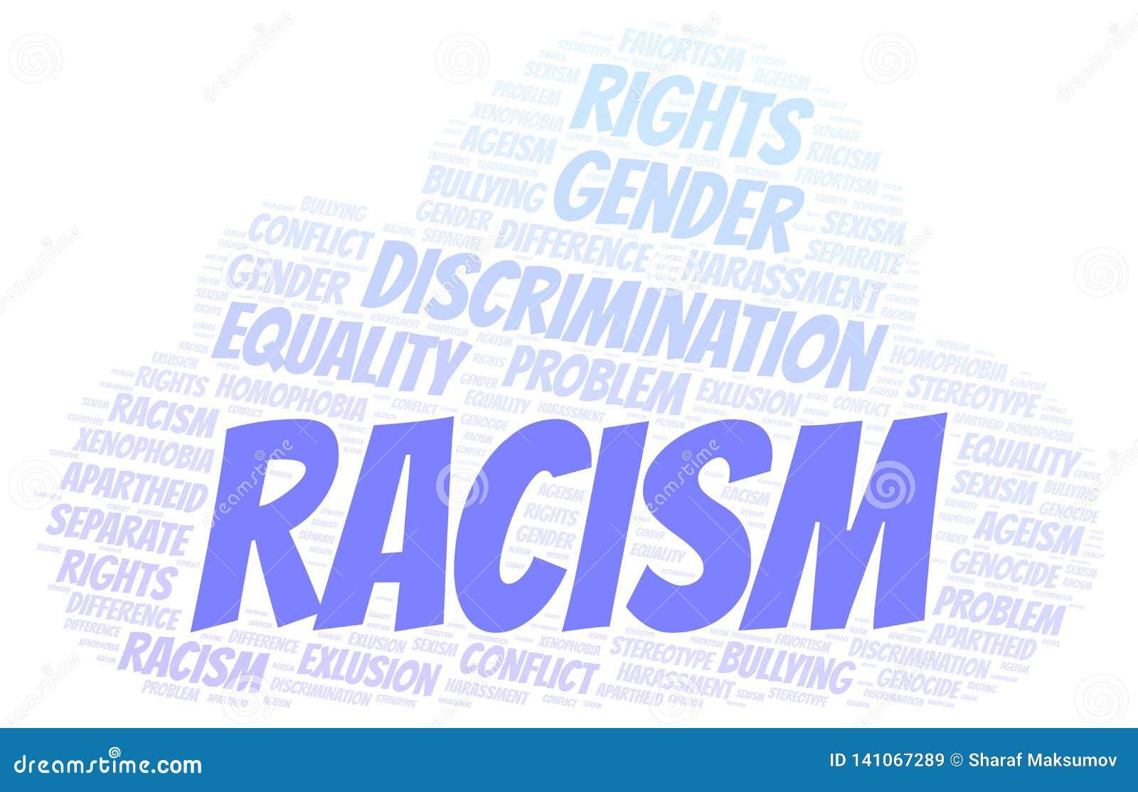 Racismo - tipo de discriminação - nuvem da palavra