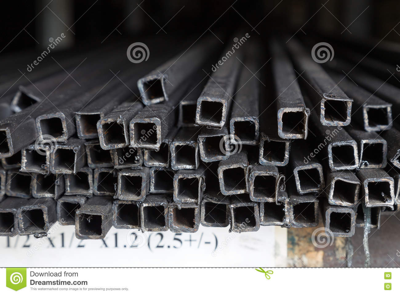 Rack Of Construction Steel Pipes Stock Photo - Image of metal, bunch