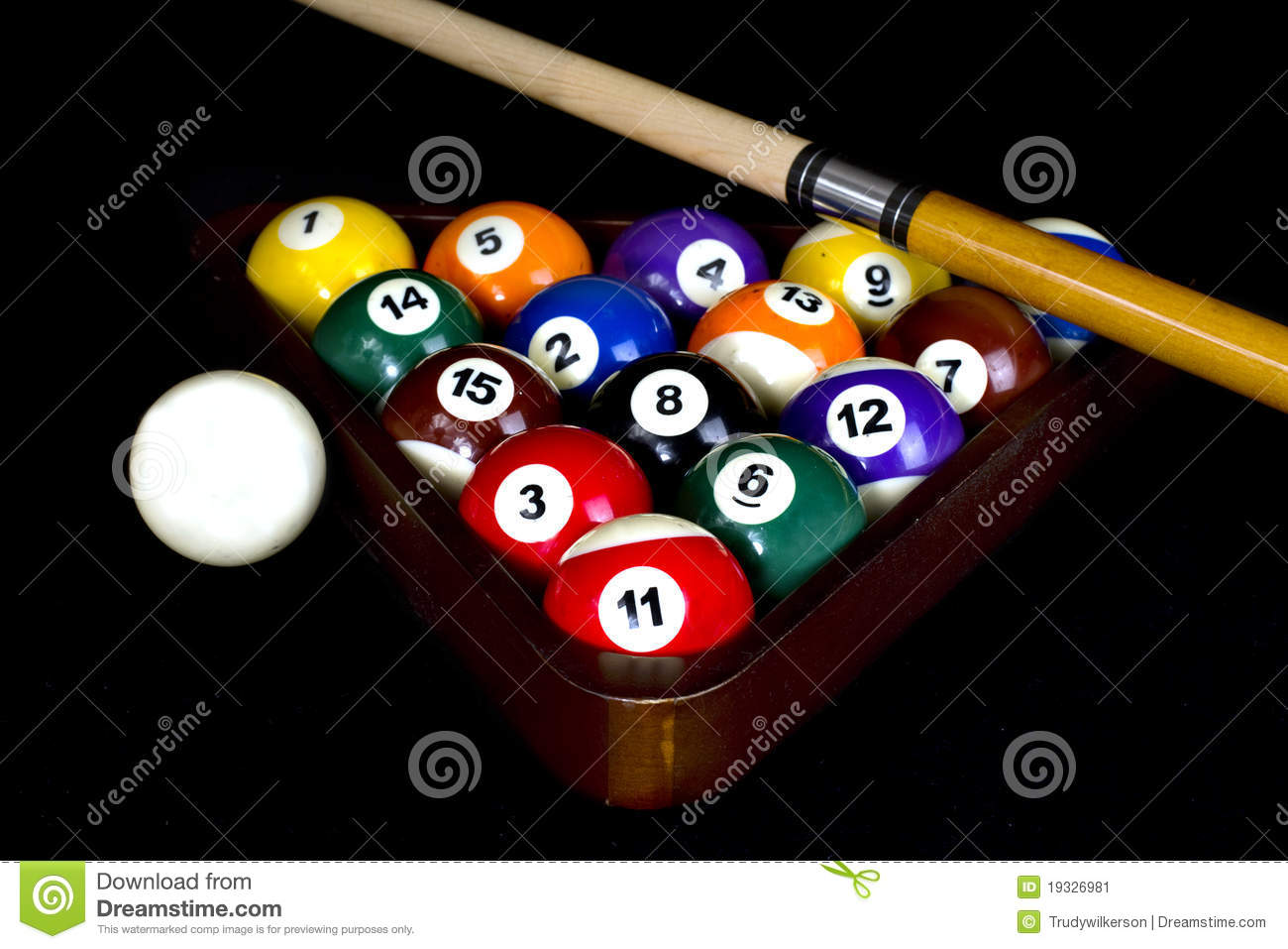 Rack Of Pool Balls Stock Image Image 19326981