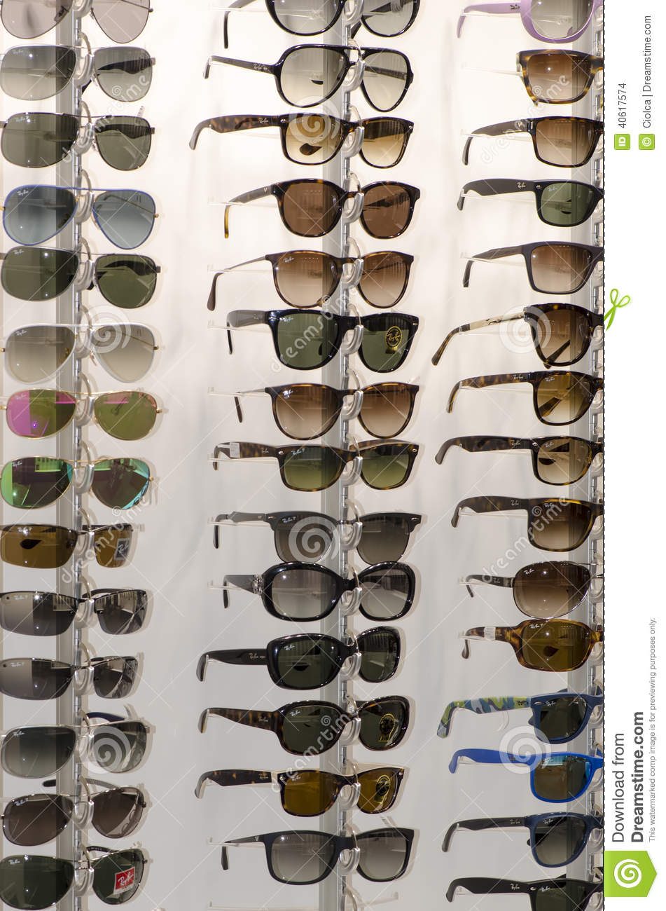 Rack of sunglasses editorial stock image. Image of group
