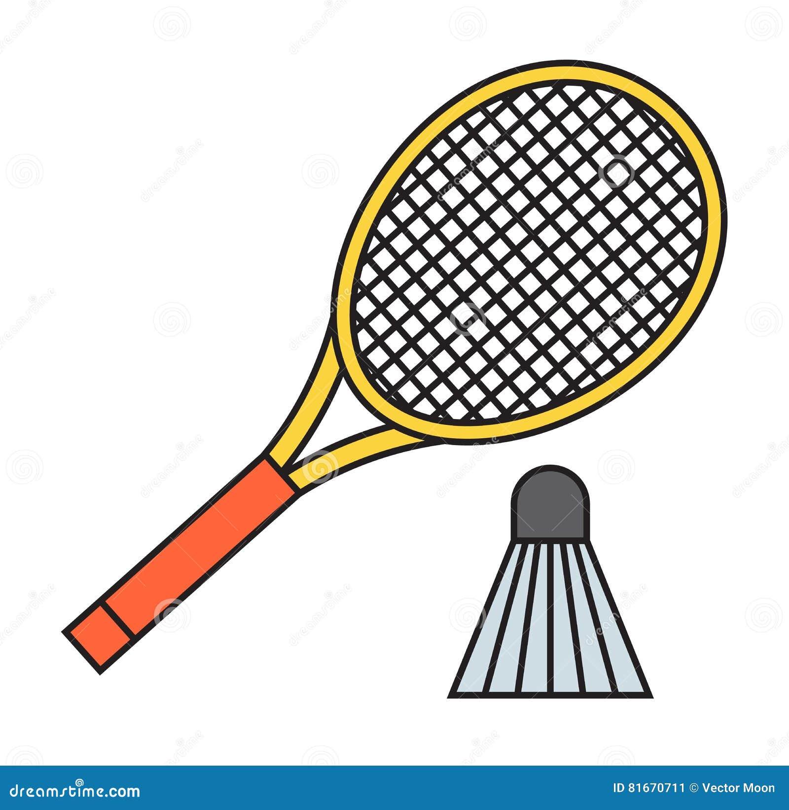 ... för badminton två och för fjäderbollsportleken befjädrar  konditionvektorn Hobby för racket för spelare för domstol för rolig  utrustning för handling ... c1dfda0393074