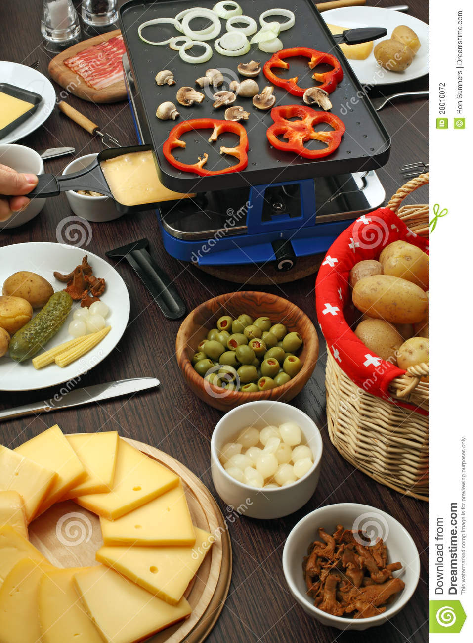 raclette dinner stock photo image of culture potato. Black Bedroom Furniture Sets. Home Design Ideas