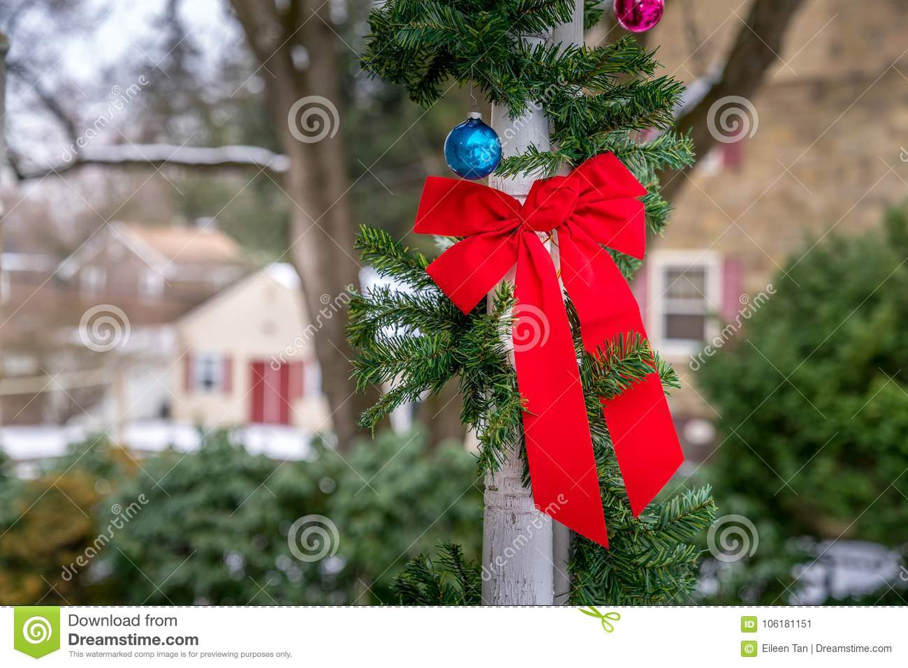 download outdoor christmas decorations stock image image of snow cold 106181151