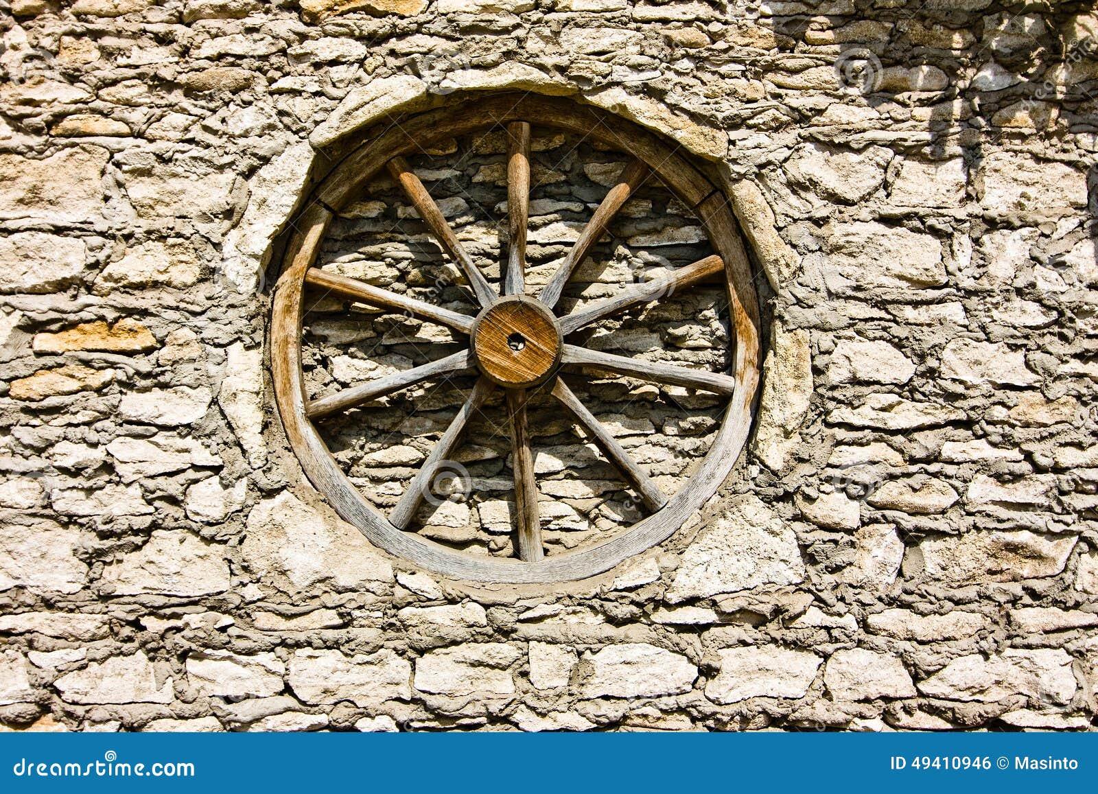 Download Rad vom wain in der Wand stockfoto. Bild von land, muster - 49410946