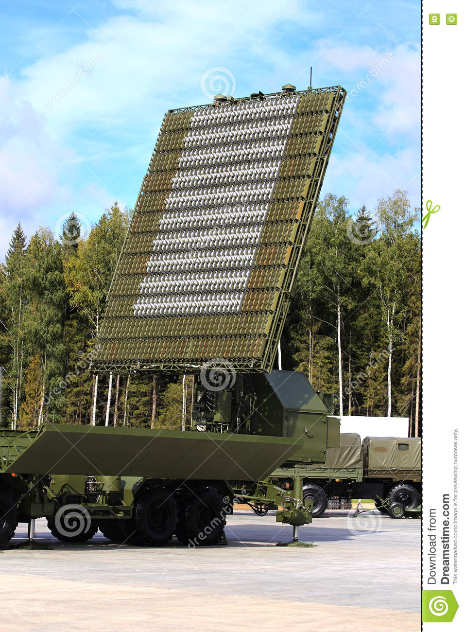 Radar Antenna Of The Air Defence System Stock Photo - Image of