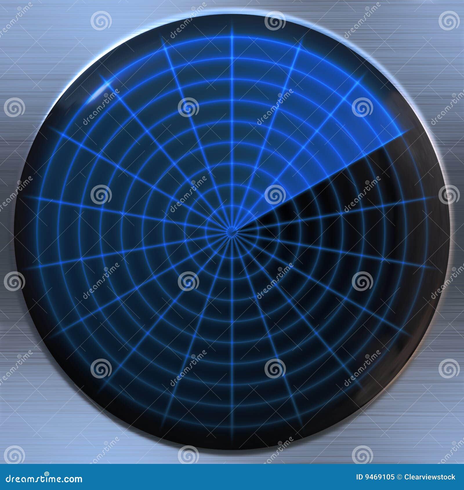 Radar Or Sonar Screen Royalty Free Stock Photo Image 9469105