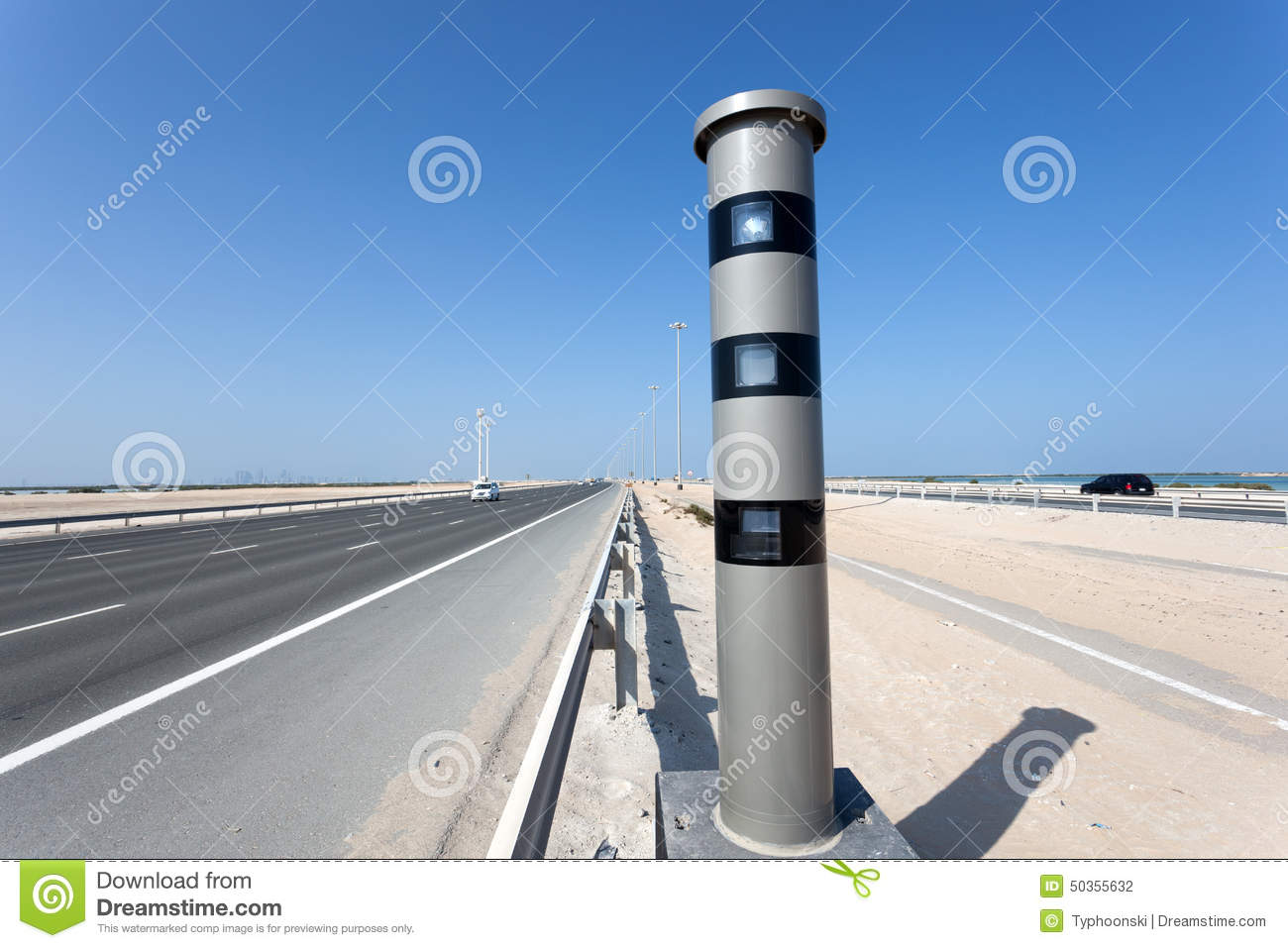Radar speed control camera at the highway stock photo - Emirates camera ...