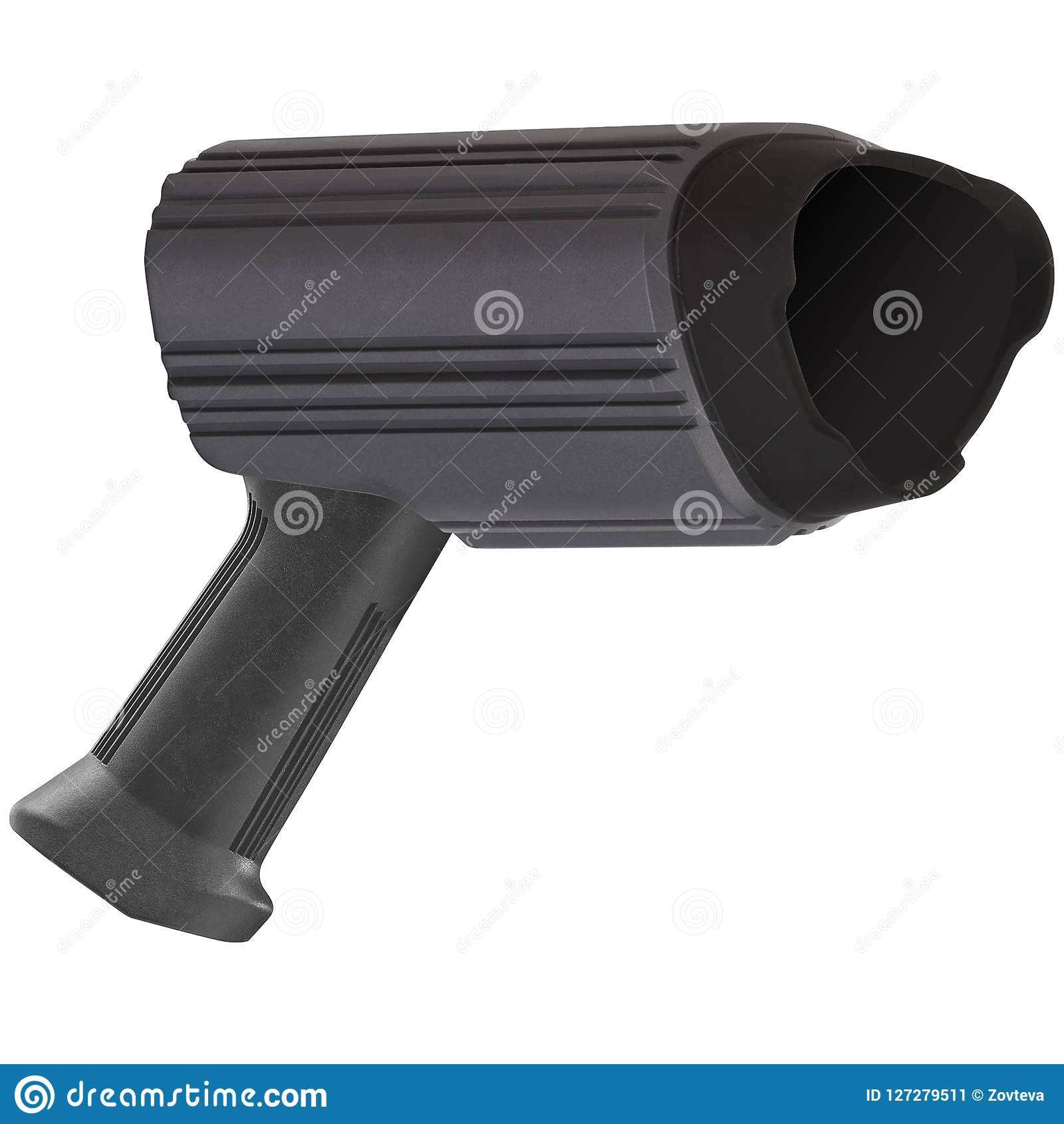 Radar Speed Gun Isolated On White Stock Image Image Of Doppler