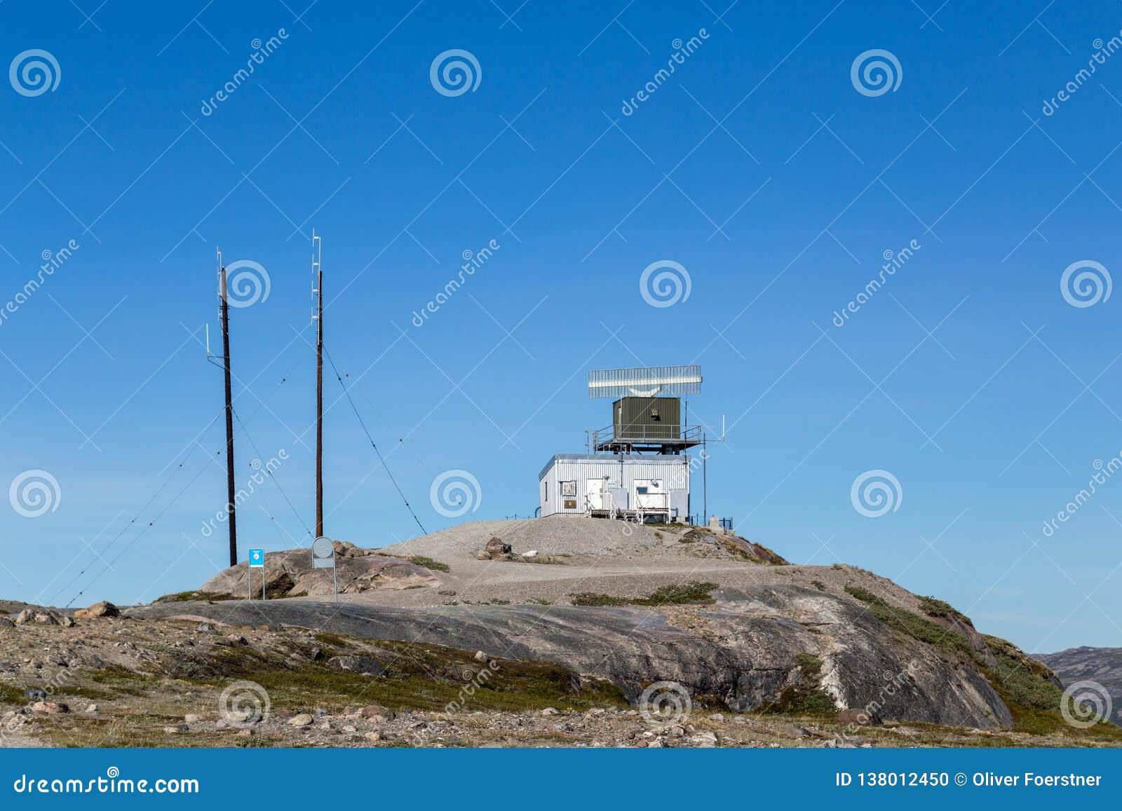 Radar Tower Station in Kangerlussuaq, Greenland