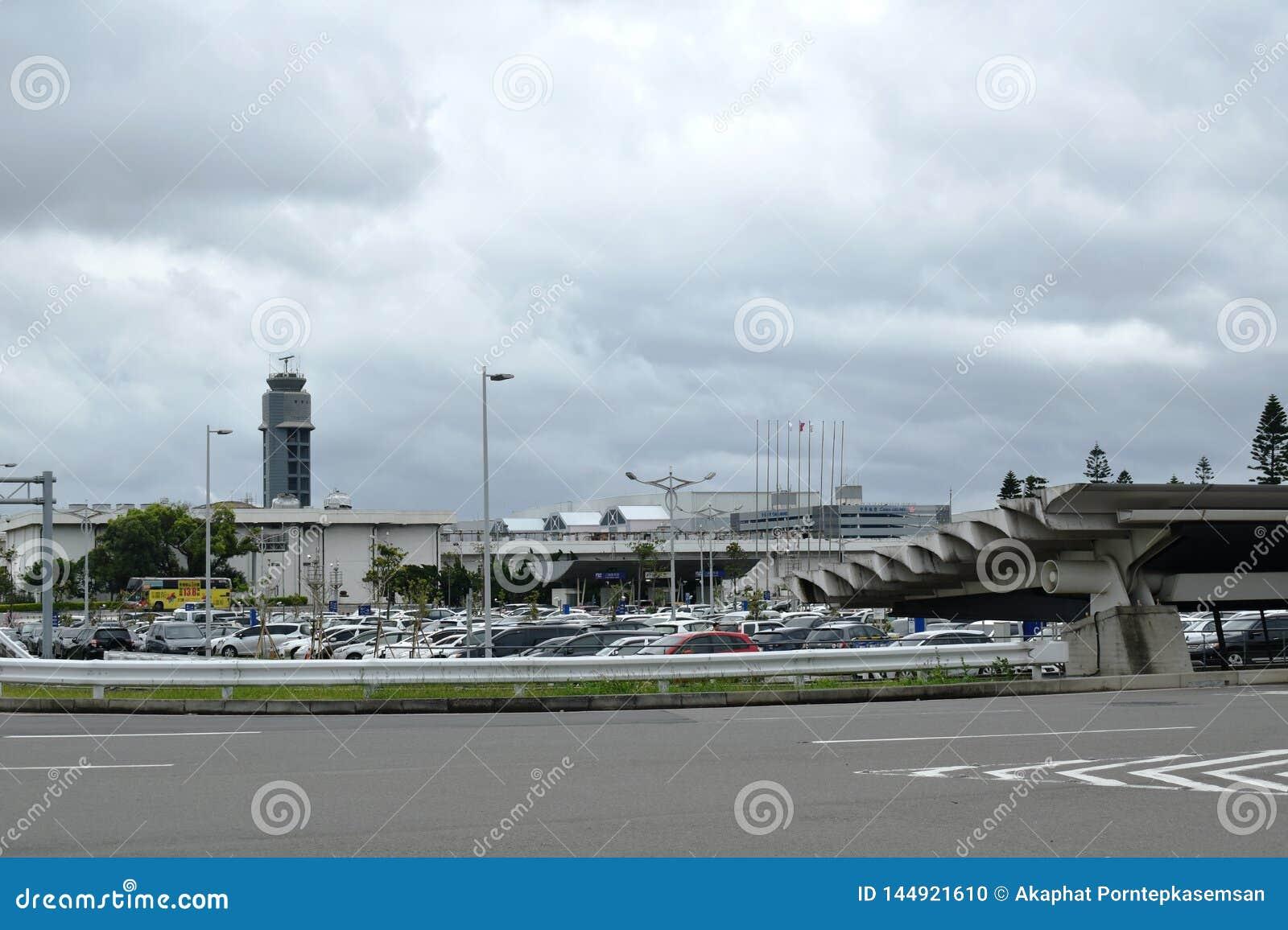 Radartorn p? ?verkant st?rst och b?sta flygplats f?r tio Taoyuan f?r internationell flygplats i v?rlden