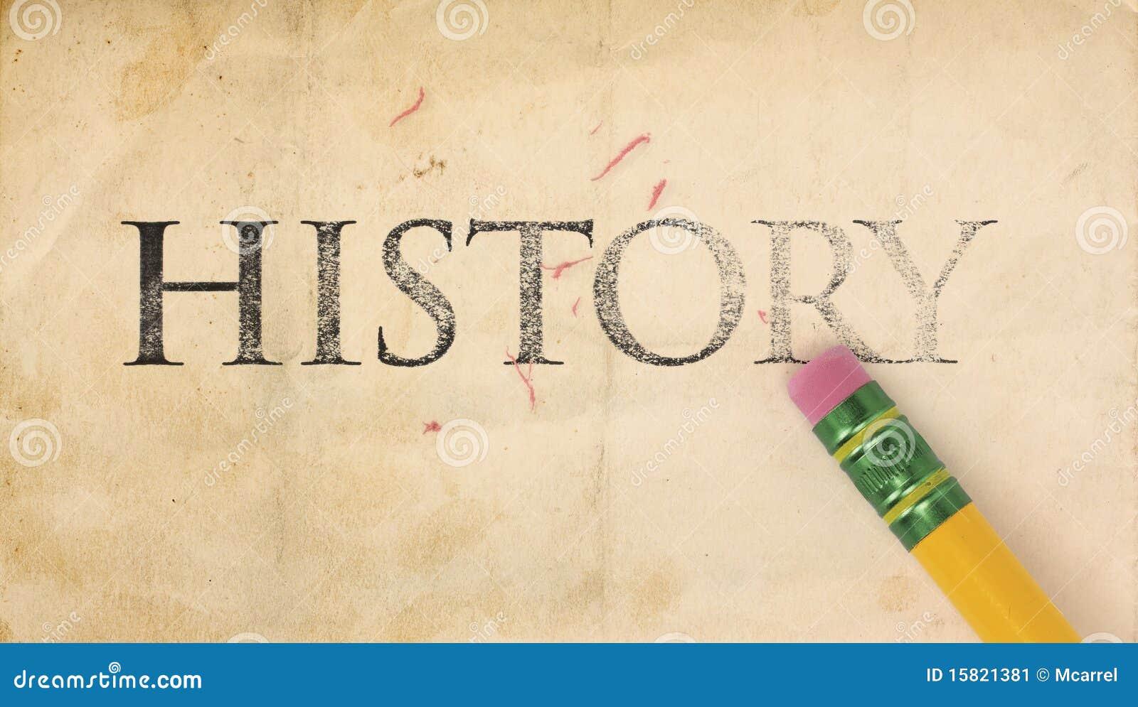 Radering av historia