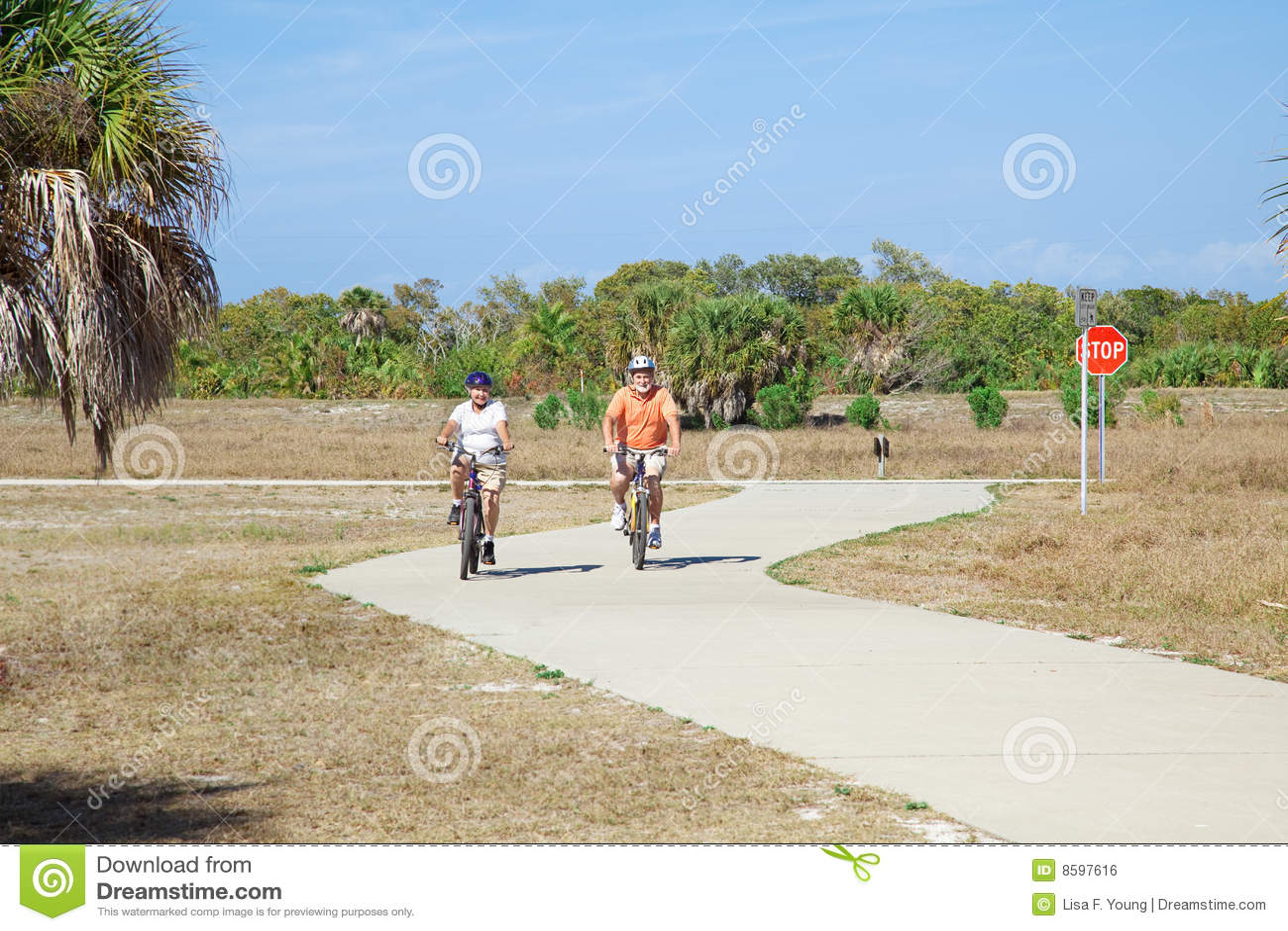 Radfahren in den Park