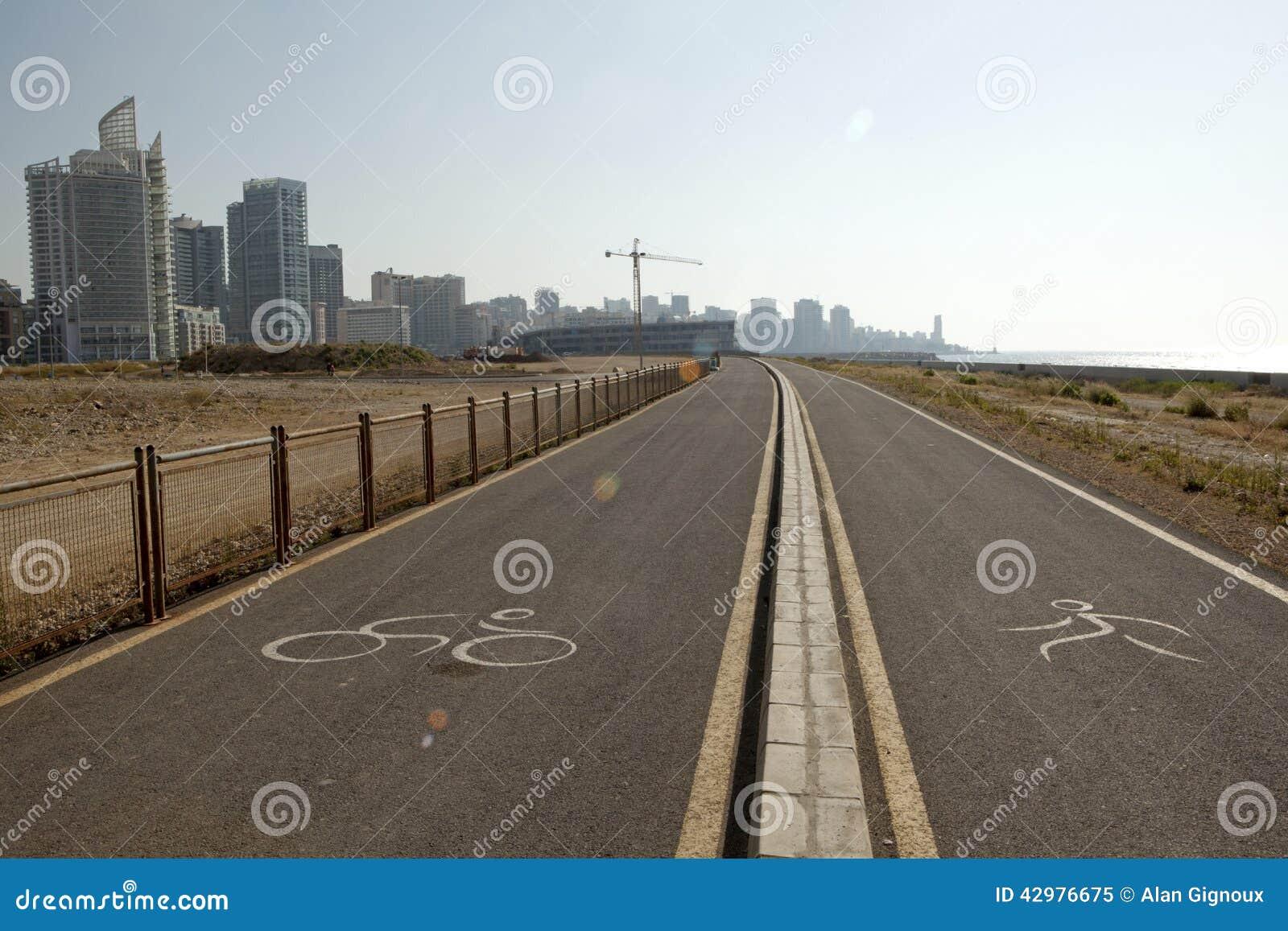 Radfahrende und laufende Wege, Beirut
