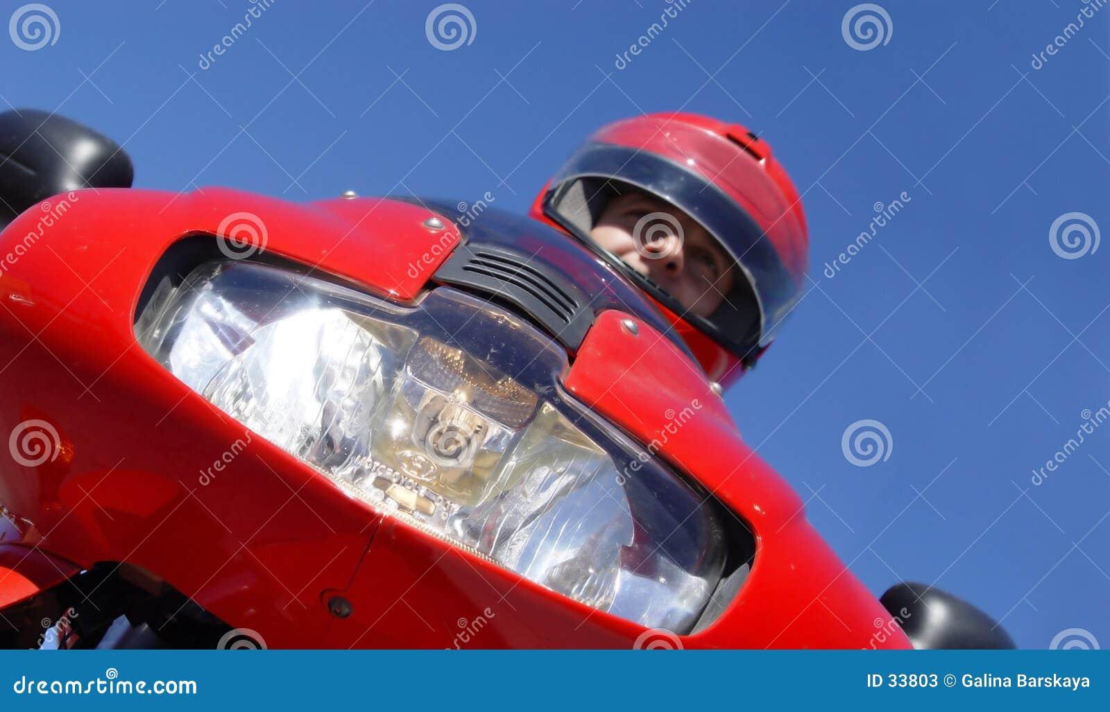 Download Radfahrer stockbild. Bild von junge, blau, outdoor, fahrer - 33803