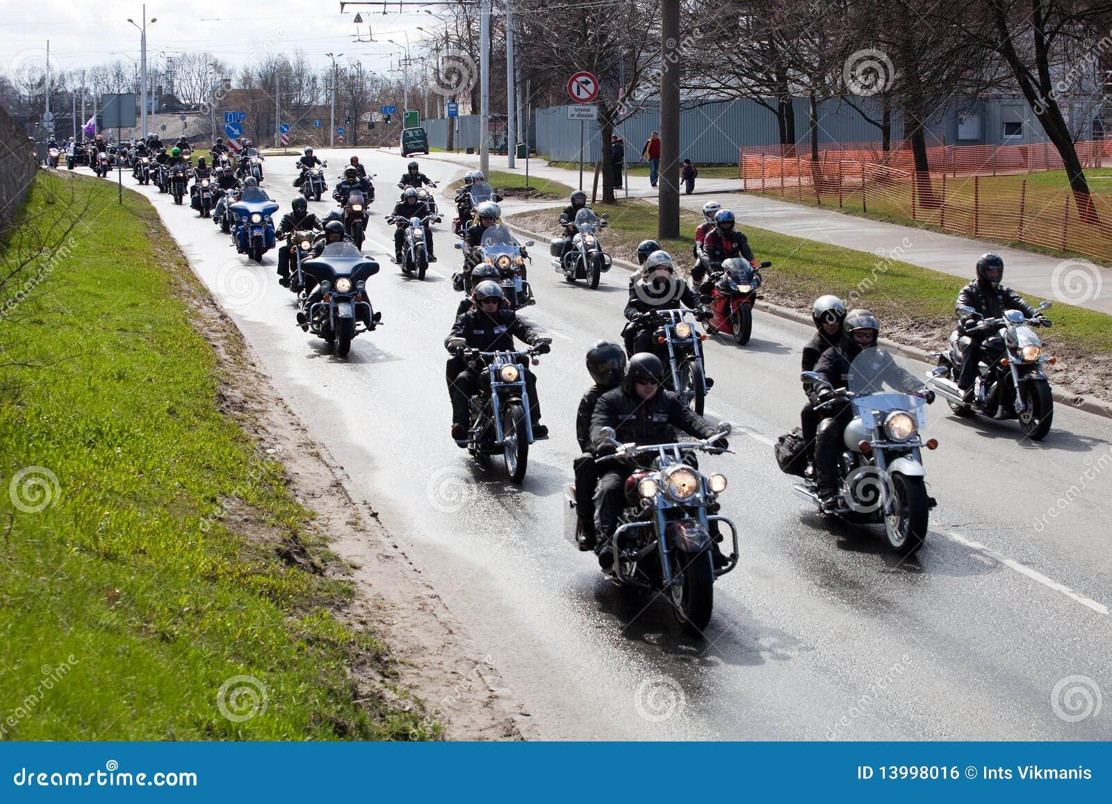 Radfahrer in den Stadtstraßen