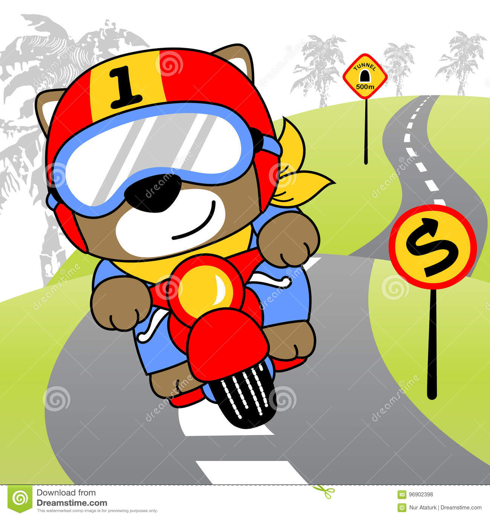 Radfahrerkarikatur