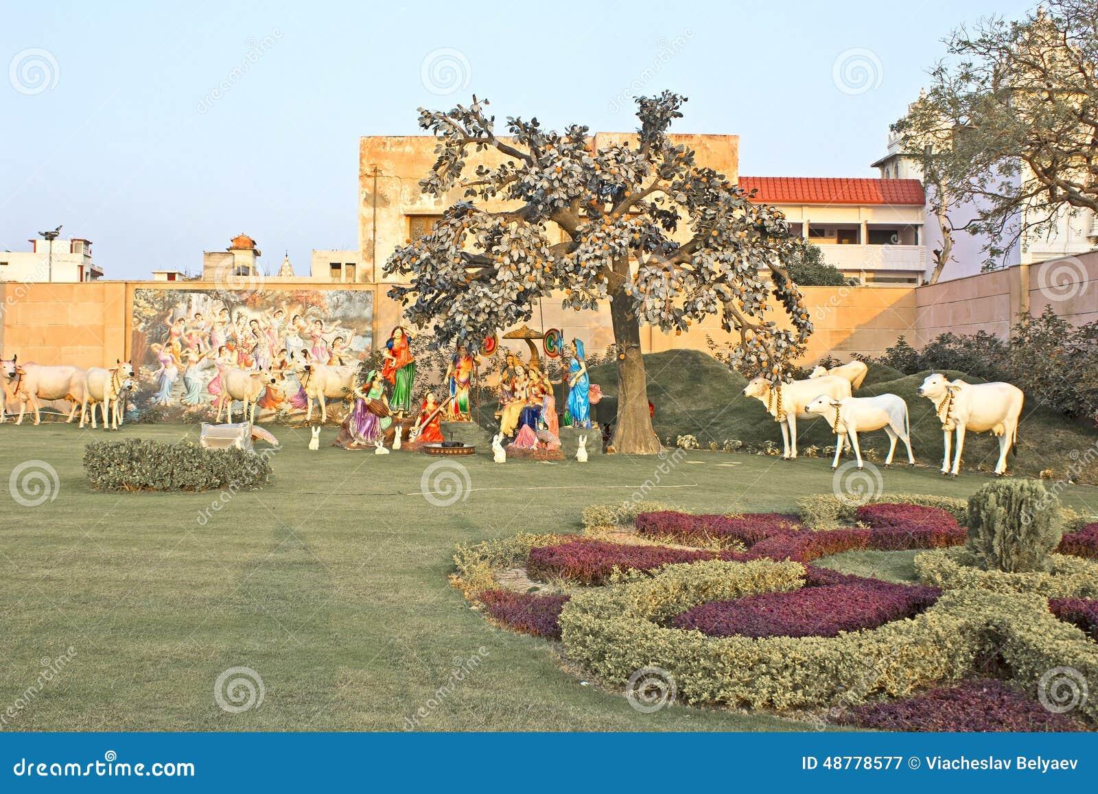 Radha, Krishna et huit gopis