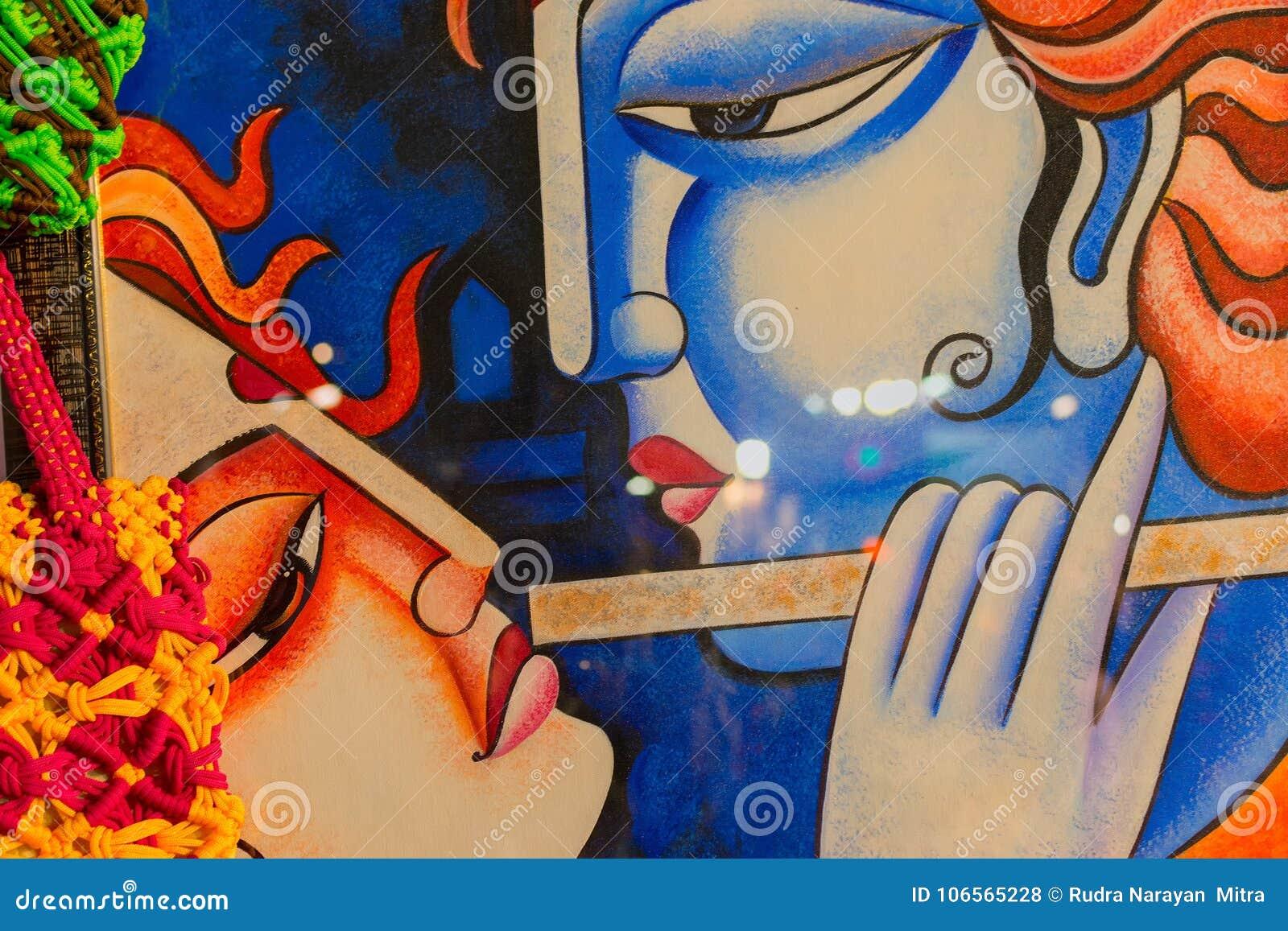 Radha And Krishna Indian Handicrafts Fair At Kolkata Editorial Stock Photo Image Of Handicraft Detail 106565228