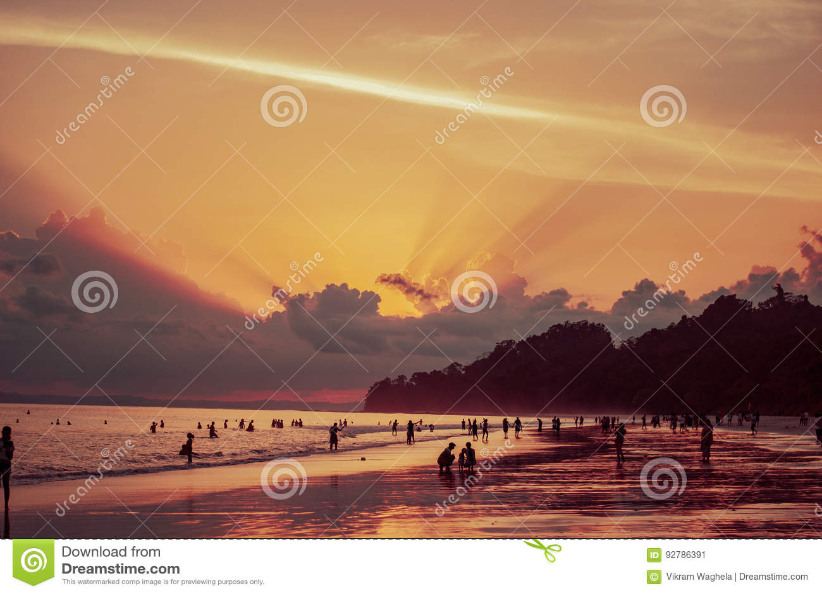 Radhanagar-Strand-Sonnenuntergang, Andaman-Inseln