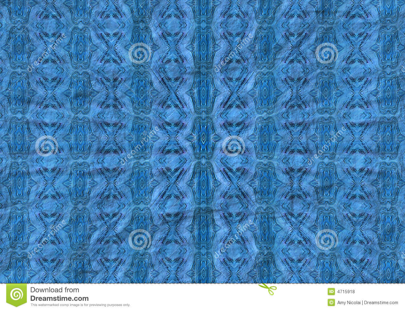 Radial blue pattern