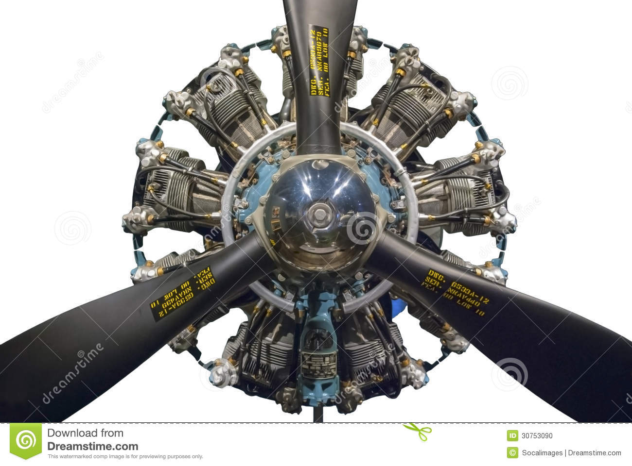 Radial Engine Stock Photo - Image: 30753090