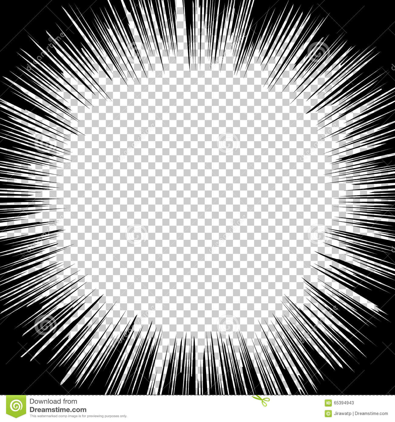 radial speed lines graphic effects for use in comic stock