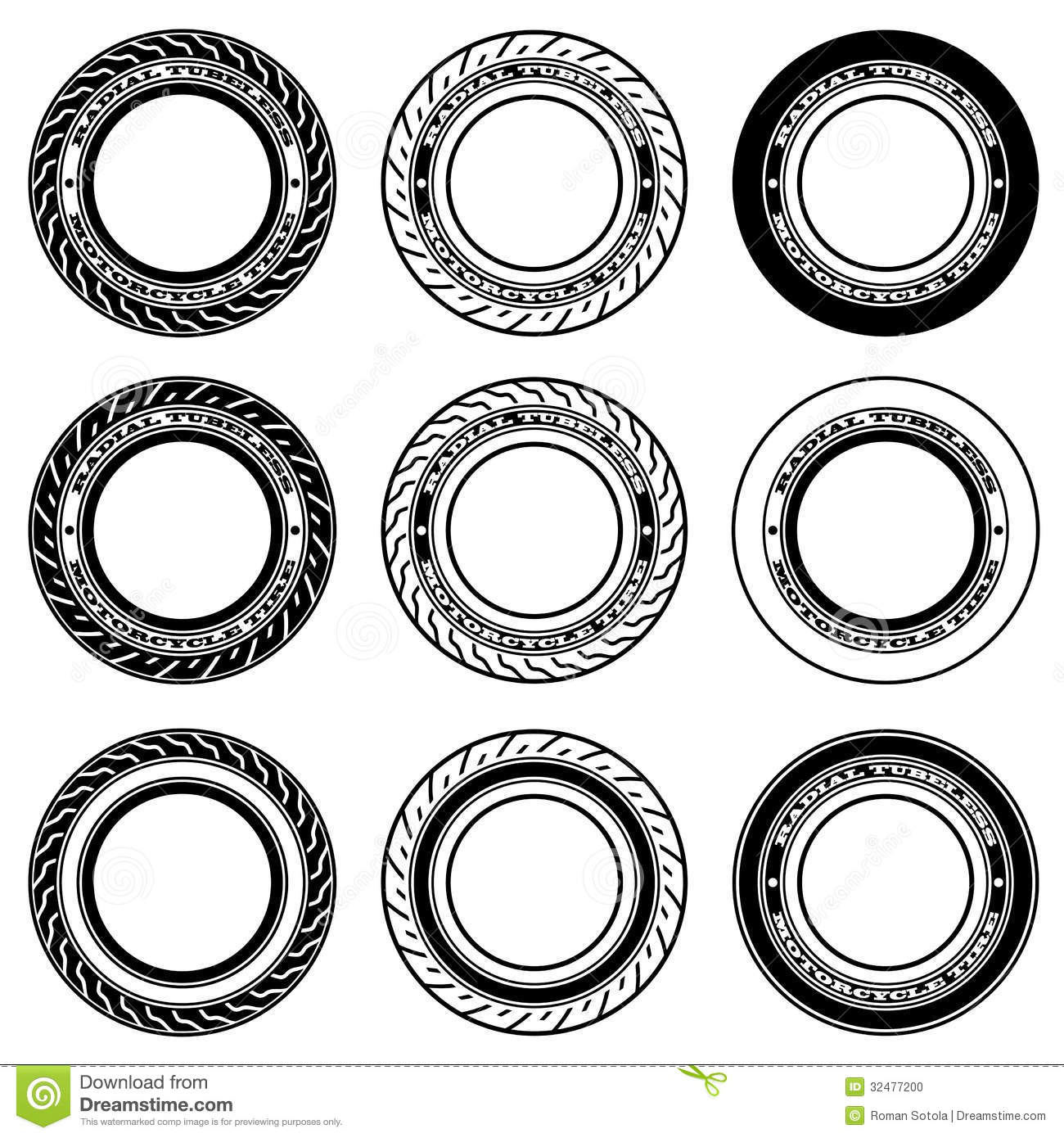 radial tubeless motorcycle tyre symbols stock photo