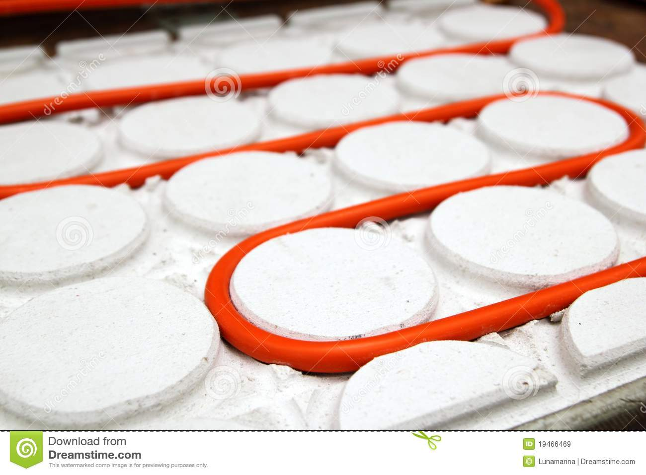Radiant floor heating tube red pipe royalty free stock for Boden heizung