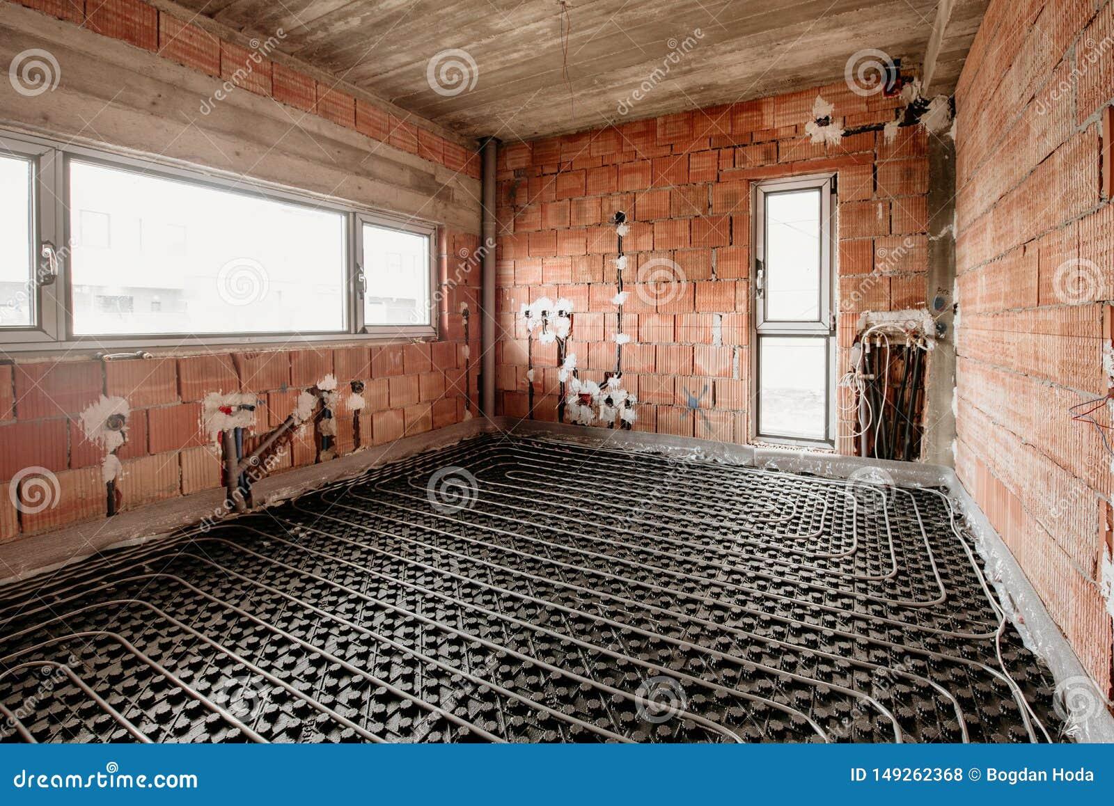 Radiant Underfloor Heating Installation With Flexible Tubing ... on basement heating, ceiling heating, boiler heating, wall heating, home heating, infloor heating, water heating, radiator heating, oil heating, gas heating,