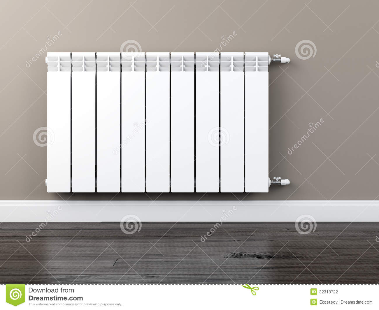 radiateur de chauffage central photographie stock image 32318722. Black Bedroom Furniture Sets. Home Design Ideas