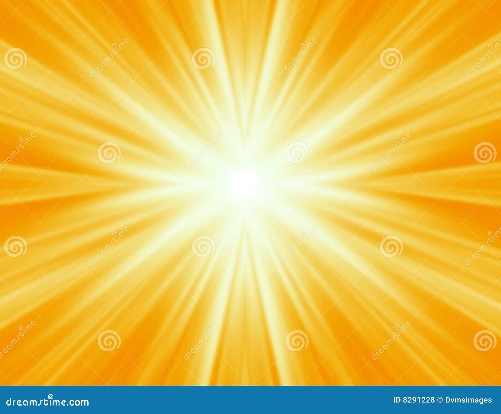Radiating yellow rays