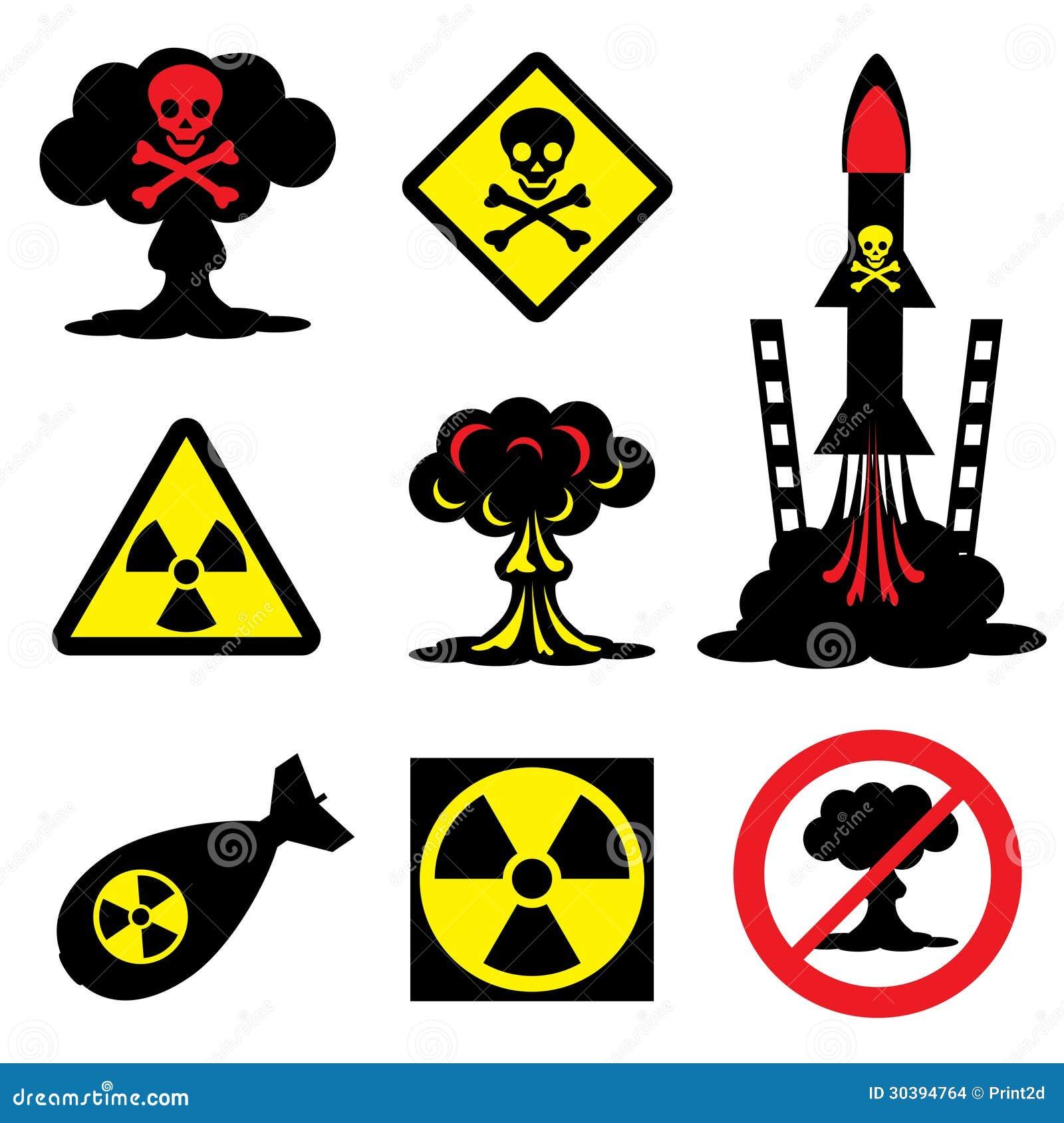 Radiation Hazard Stock Vector Illustration Of Exploding 30394764