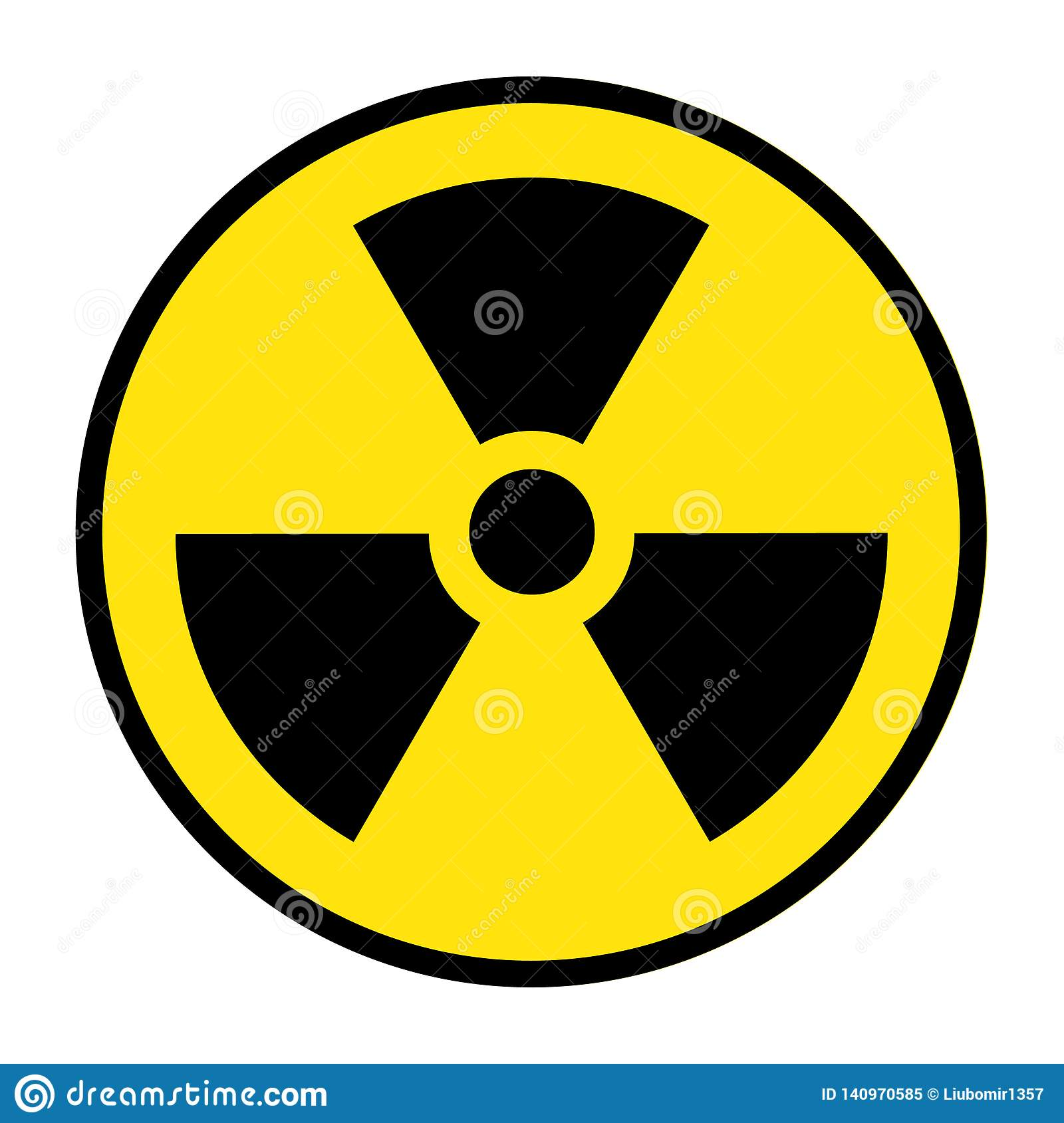 The radiation icon. Radiation symbol