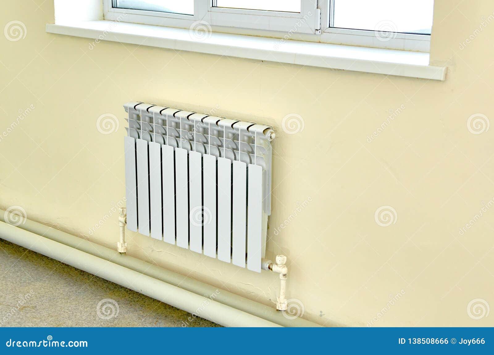 Heating White Radiator Under A Large Window Stock Photo Image Of Radiator Efficient 138508666