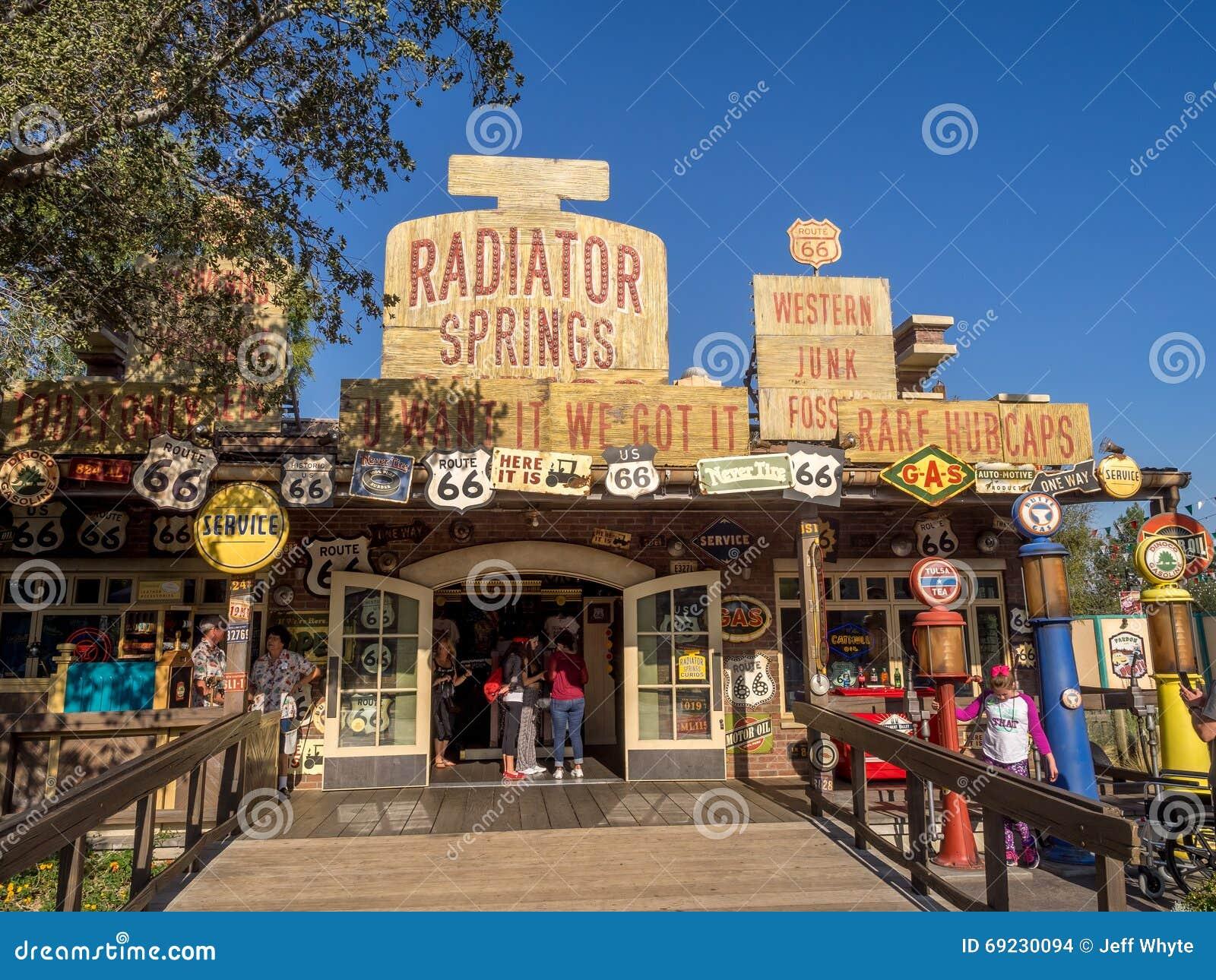 Radiator Springs Gift Shop At Carsland Disney California Adventure Park Editorial Stock Image Image Of Mickey History 69230094