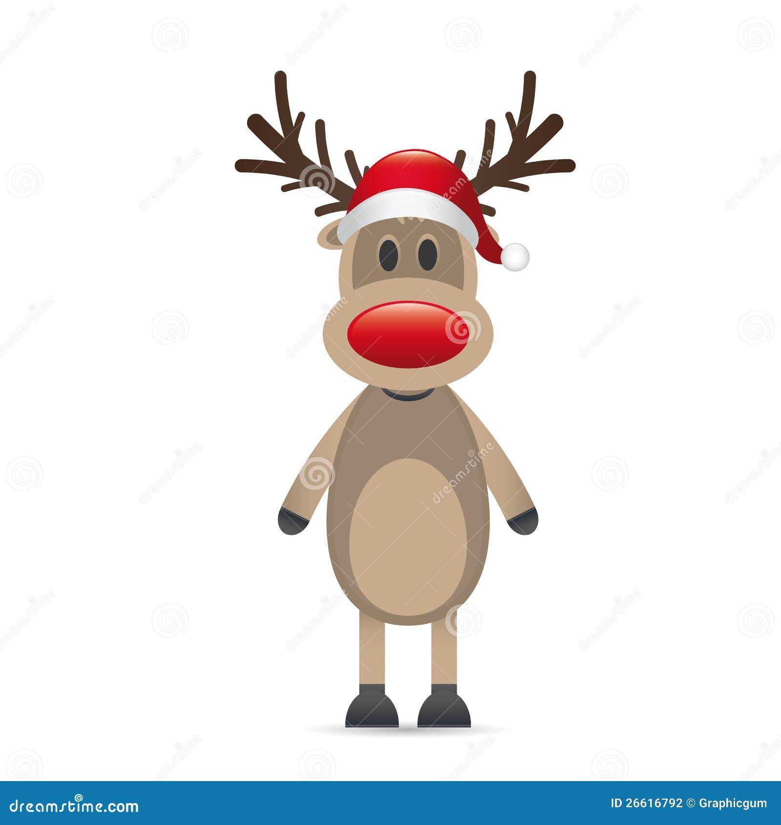 Rudolph La Renna Di Babbo Natale.Radiatore Anteriore Di Colore Rosso Della Renna Di Rudolph