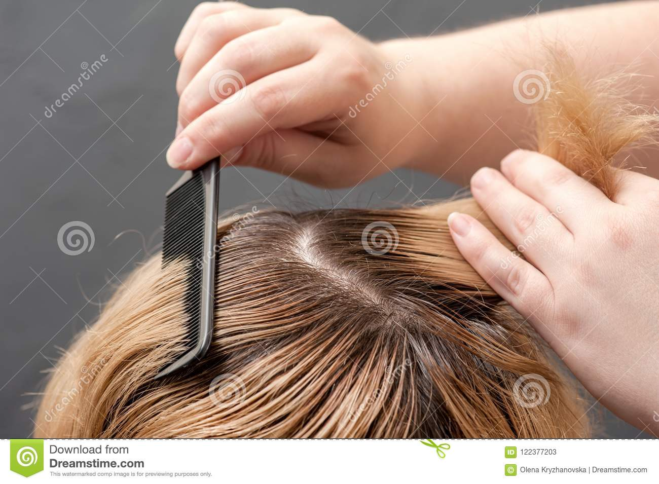 A Radical Change Of Hair Color Stock Image Image Of Color Girl