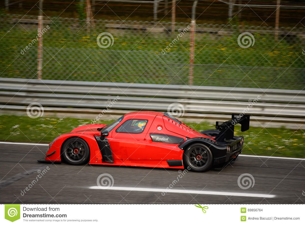 Radical RXC V8 Car Test At Monza Editorial Stock Image