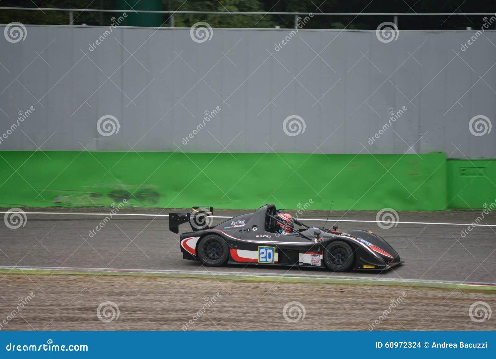Radical SR8 Car Racing At Monza Editorial Stock Image - Image of