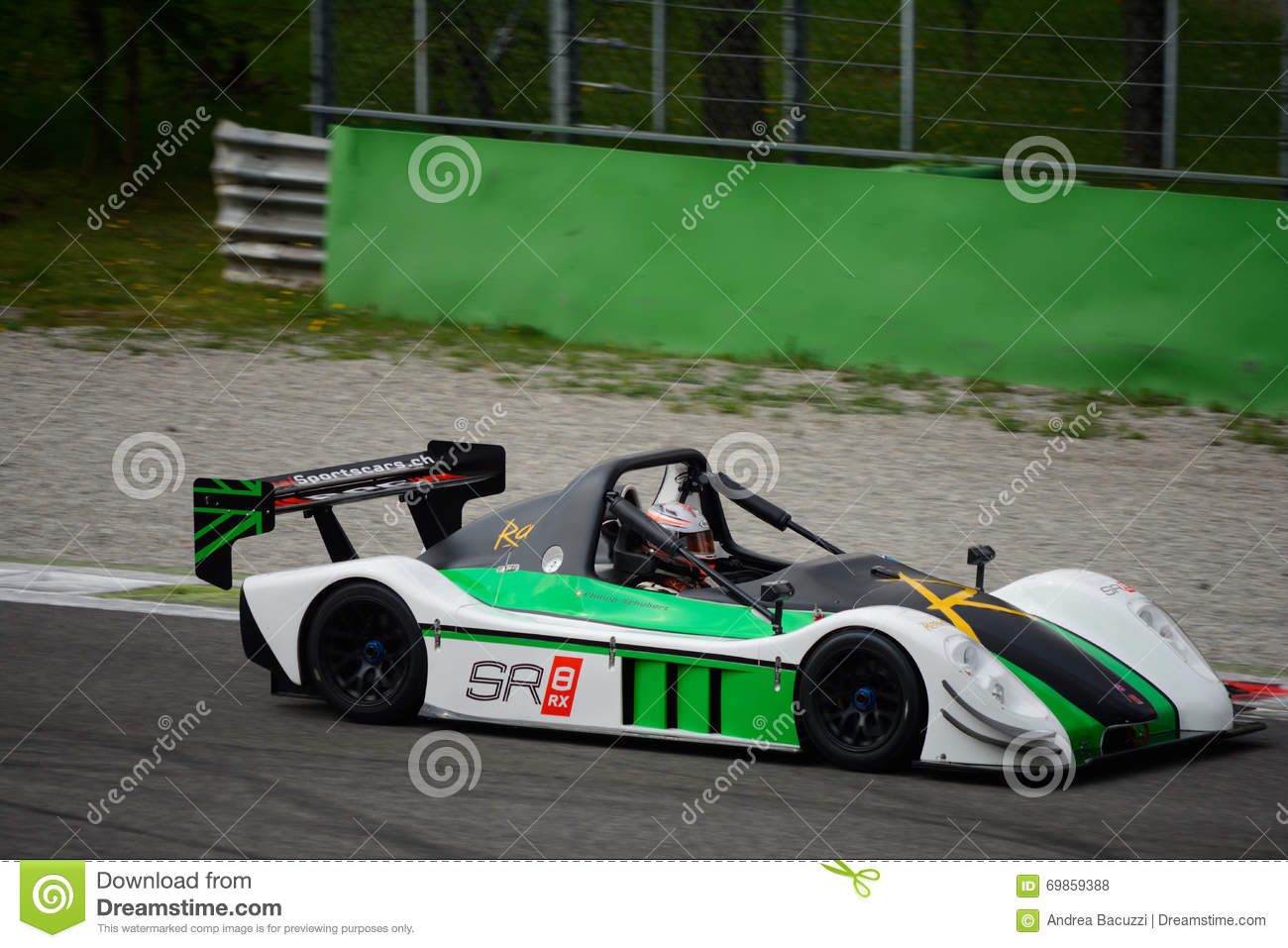 Radical SR8 RX Car Test At Monza Editorial Stock Photo