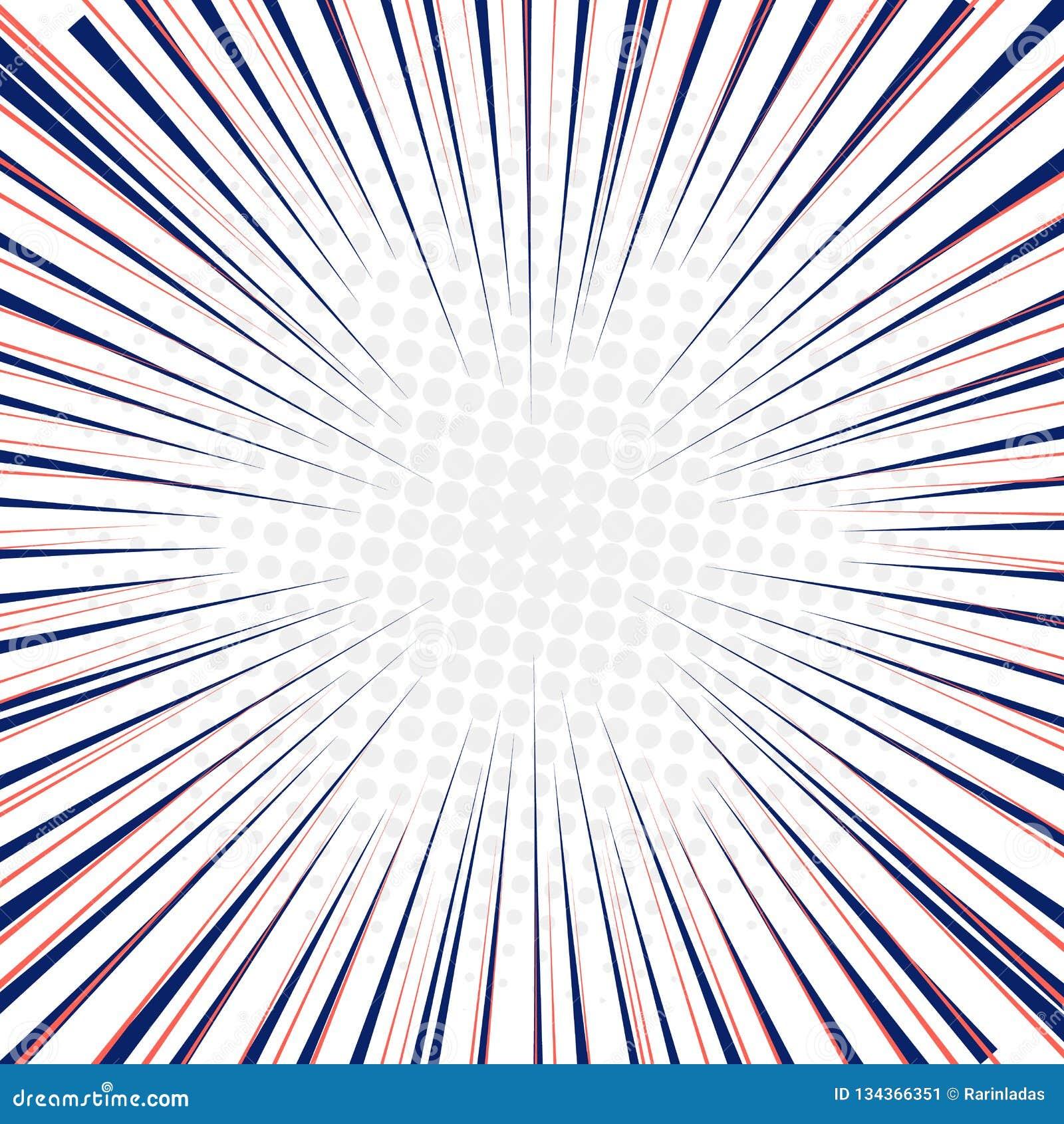Radiella hastighetslinjer fastar rörelsebakgrund med cirkelhalvton