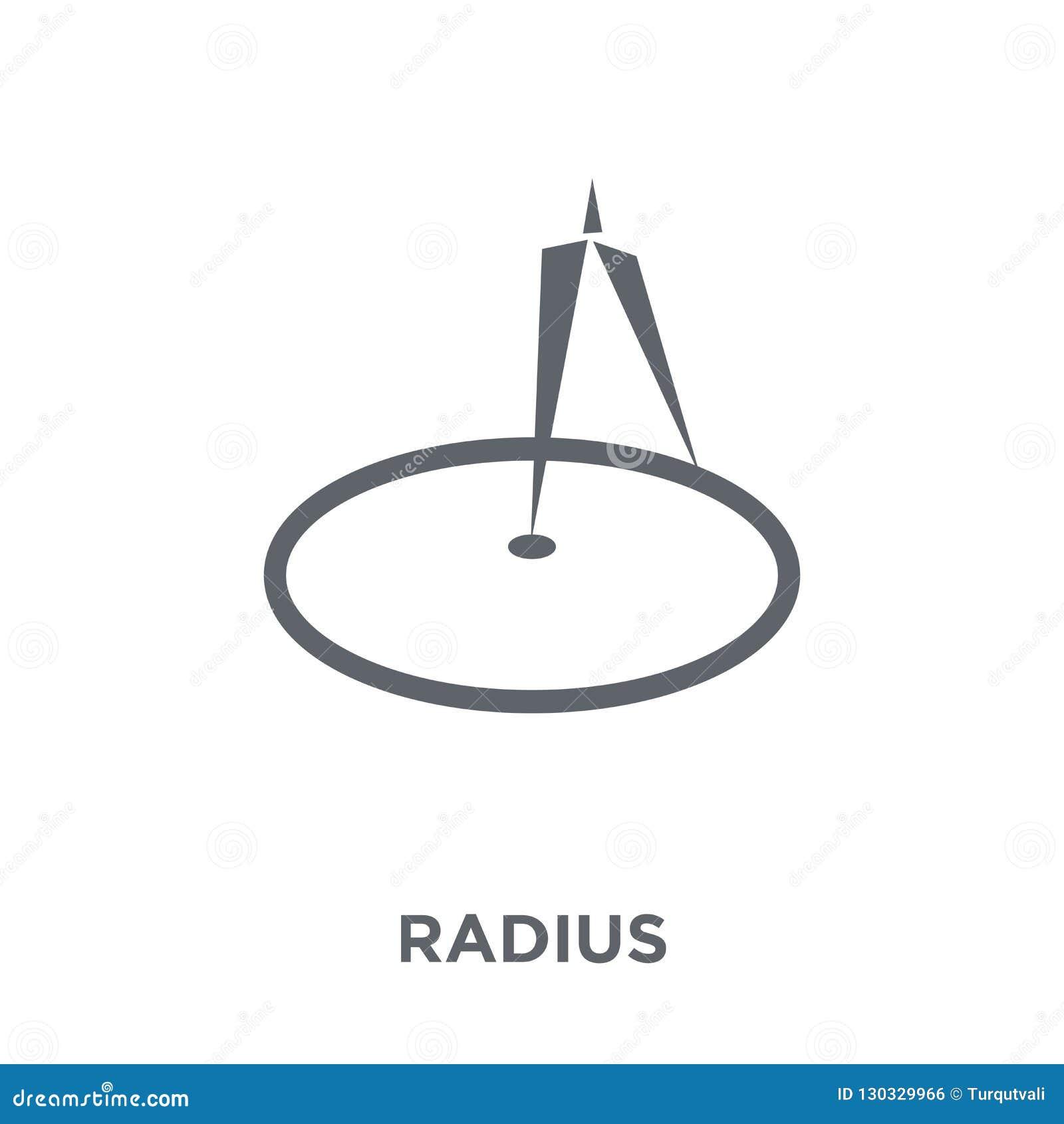 Radiesymbol från geometrisamling