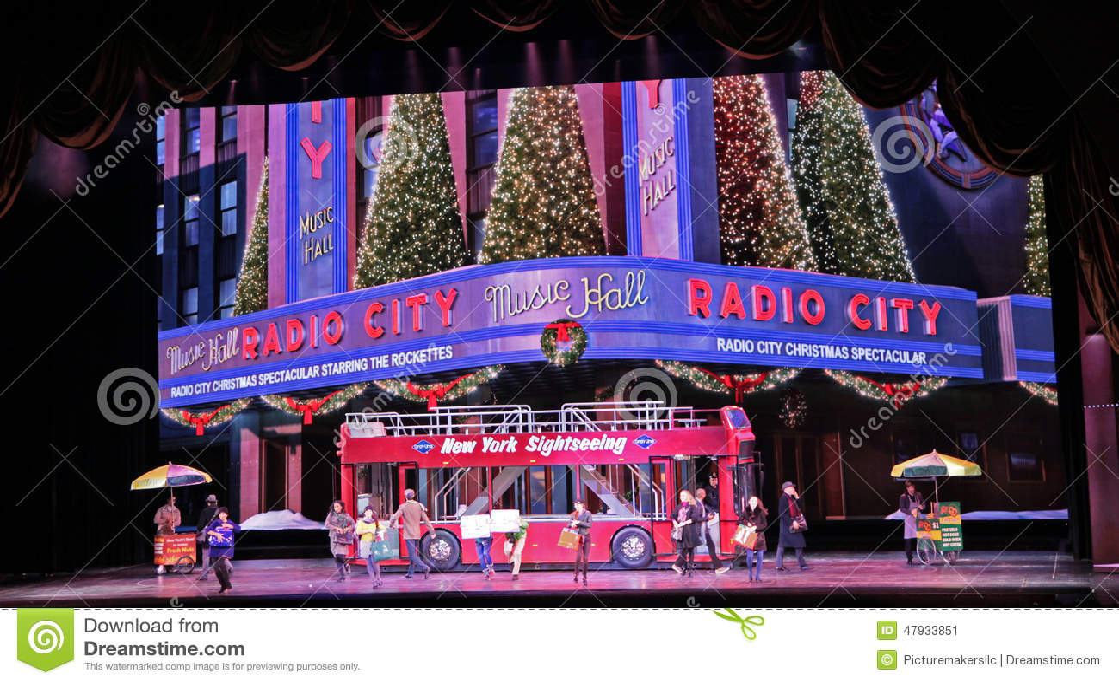 Radio City Music Hall, New York City Editorial Photo - Image of hall ...